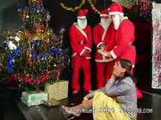 Santa's gift of gangbang
