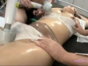 Asian Girl Tied To Bed Getting Her Body And Pussy Stimulated With Vibrators By 3 Girls