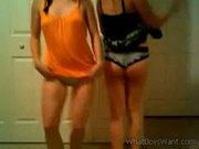 Girls teasing on cam