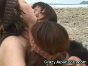 Japan beach orgy!