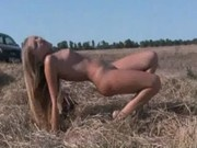 Alena rolling in the hay