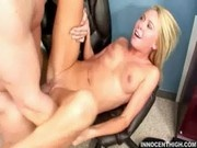 Horny blonde teen Brynn riding the school admin like there's no tomorrow