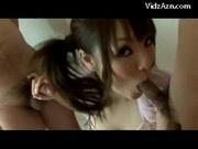 Pink Top Asian Swallows 3 Guys Loads