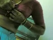 Desi lanja saree blouse and sucking