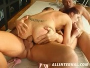 Pretty Rose gets her Ass filled with cocks and sperm - All Internal