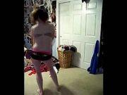 Amateur teen strip dance