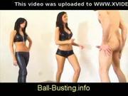 Sexy girls kicking balls