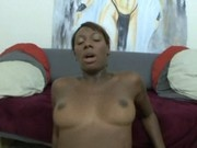 Ebony slut Gen Tilly gets pounded by white man
