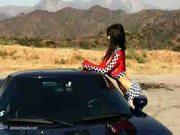 Denise milani hot car