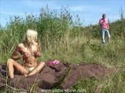 Kinky Blonde Fucked Outdoor