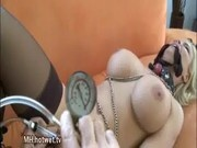 Blonde BDSM MILF stocking play