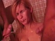 Brazilian Blonde Teen Fuck Hard with 2 Guys!