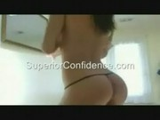 GF dances strips and grinds in black thong