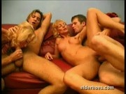 Two grannies hire young studs to have sex