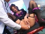 Hot Nurse In Sexy Lingerie Getting Her Pussy Fucked With Toys Fingered By A Doctor