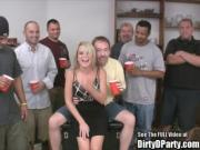 Skinny Blonde Bukkake Fuck Party