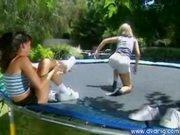 Lesbians Lola And Wendy Divine Jump Around
