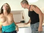 Hot And Horny Rhiannon Alize Gets Banged On The Counter