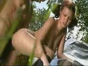 Hot girl fucking very hardly in forest