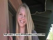 Teen amateur blonde posing