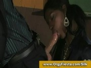 Beautiful black lady gives blowjob and gets her pussy licked