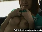 Asian Flashes Tits And Pussy