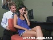 Gorgeous teen beauty Tanner gets addicted to phone sex