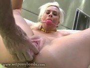 Blonde tied up for squirting