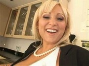 Hot blonde Milan gets her face covered in warm creamy cum