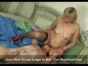 Sarah - Horny mature slut fucks young guy - 13:56mins