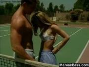 Tennis court teeny fucking