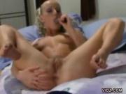 Sharon Wild Fucks Herself With A Dildo