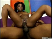 Vixen Fyre Sucks And Rides A Big Black Cock - Foxy Black But