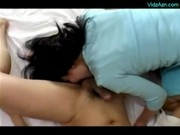 Mature Woman Giving Blowjob On The Bed