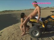 Hot lil slut sucks dick on the beach