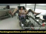 Three hot girls jerking by machines