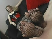 fishnet and feet