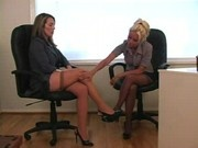 Lesbian at the office
