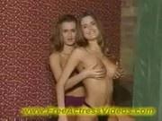 Hot Twin Sisters - Lesbian sex video 00