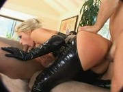 Candy Manson in Latex 3some