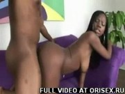 Hard Black Cock Fills This Sluts Pussy With