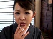 Teasing Asian In Kimono