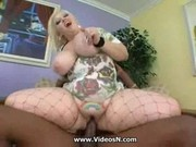 Fat Blonde Bunny De La Cruz Fucked by Black cock.