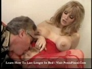 Kim -  red bodystocking playing and getting banged