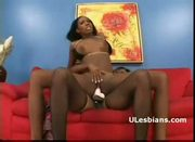 Black slut mahlia rough rides ebony lesbian monicas strap-on