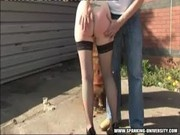 katrina spanked outside