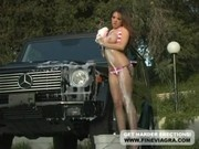 Adrena Lynn Fucked For Washing Car