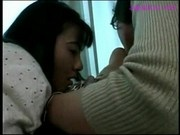 Asian Girl Getting Her Nipples Sucked Face Licked By 2 Girls On The Couch