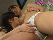 White Asian Lesbian Panties Inspected by Lesbian Friend