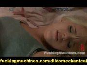 Lesbian sex and machine fucking